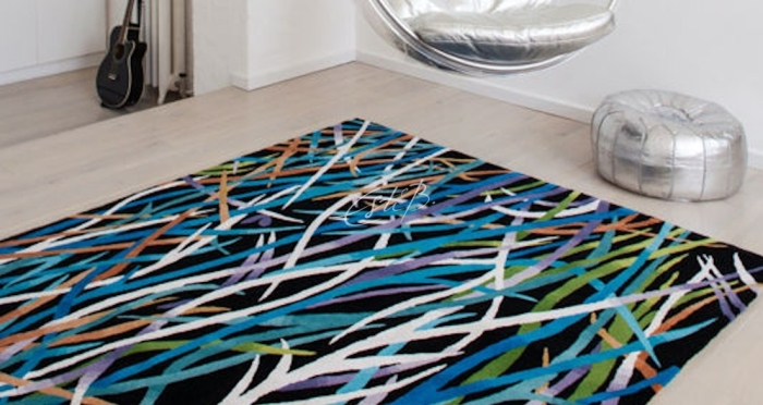 Ecosse rug in a contemporary setting