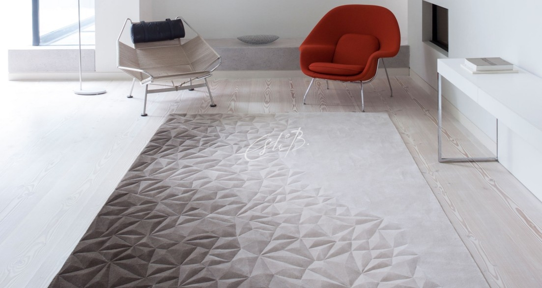 Esquire Evolution rug in a room with red chair