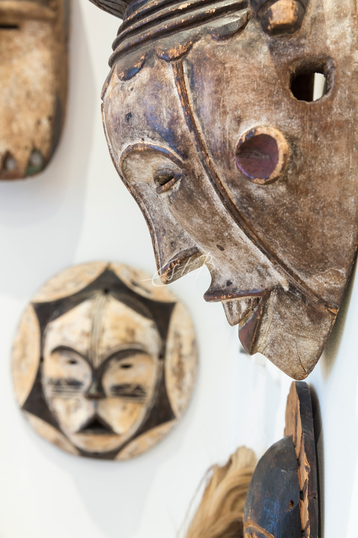 African carved masks