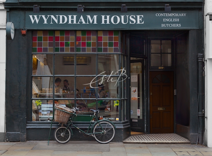 Wyndham House Contemporary English Butchers - shop from exterior