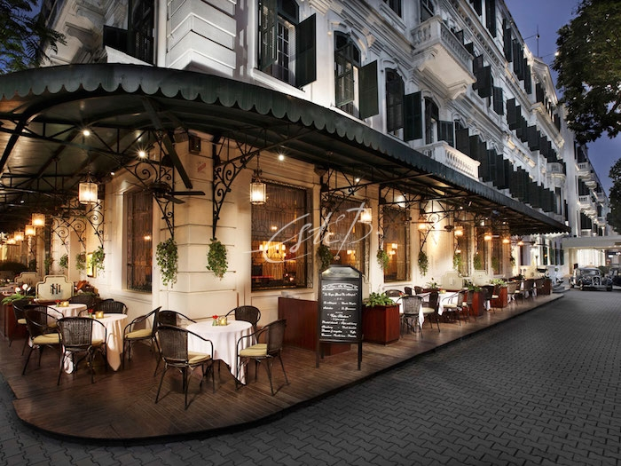 La Terrasse du Metropole café, part of the Sofitel Legend Metropole hotel in Hanoi
