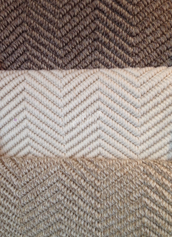 BUZIOS chevron design in 3 neutral shades