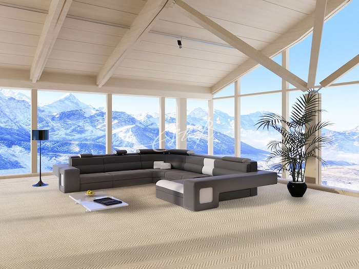 BUZIOS carpet in sitting room of amazing mountain retreat