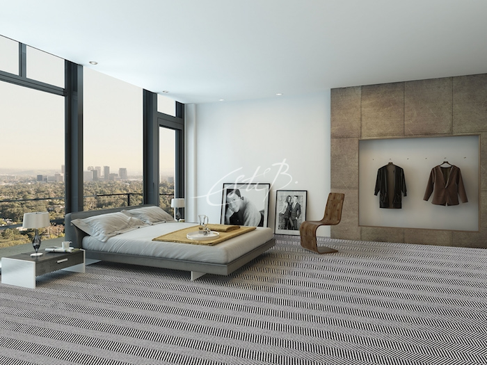 Amazon carpet in the bedroom of a luxury apartment