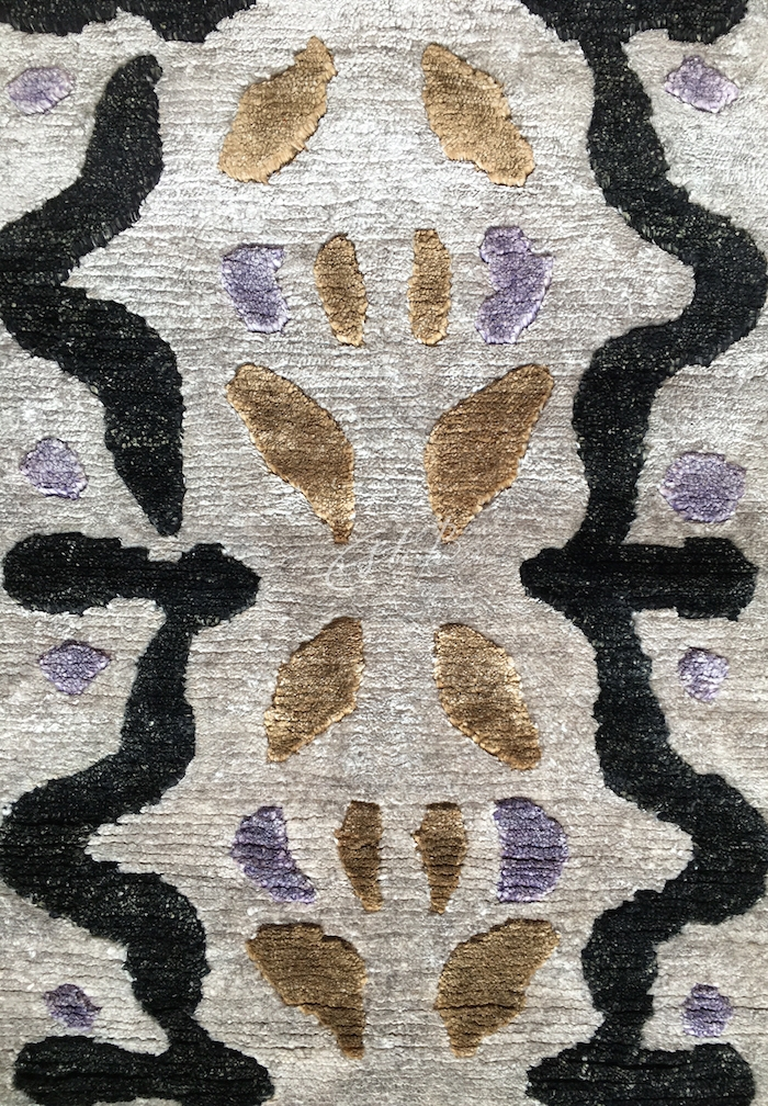 The repeating motif of Fragments rug