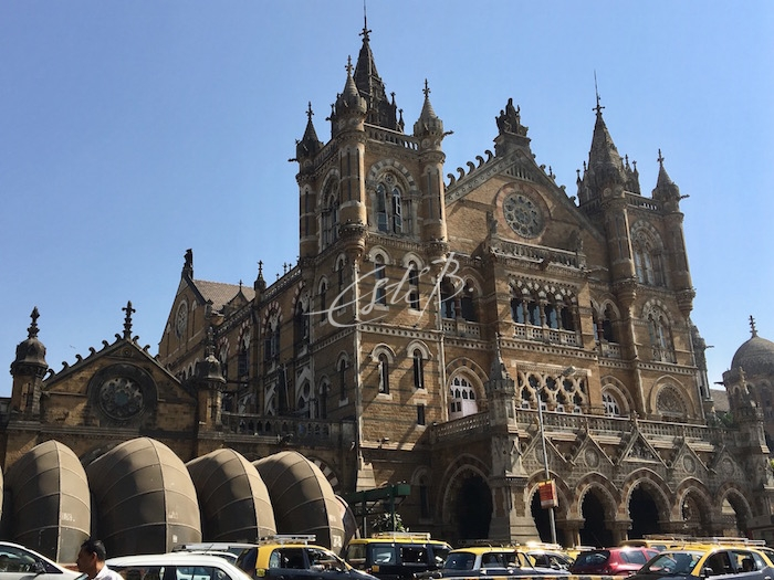 Exterior of Chhatrapati Shivaji Maharaj Terminus railway station, Mumbai