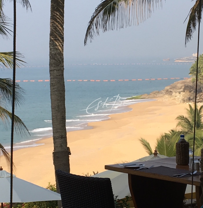 Kovalam Samudra beach viewed from hotel terrace
