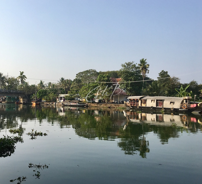 Vembanad Lake with houseboat