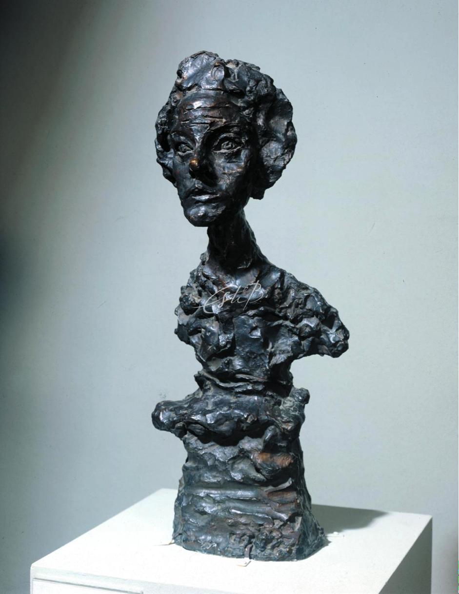 Alberto Giocometti, Bust of Annette IV 1962, cast 1965. Tate.
