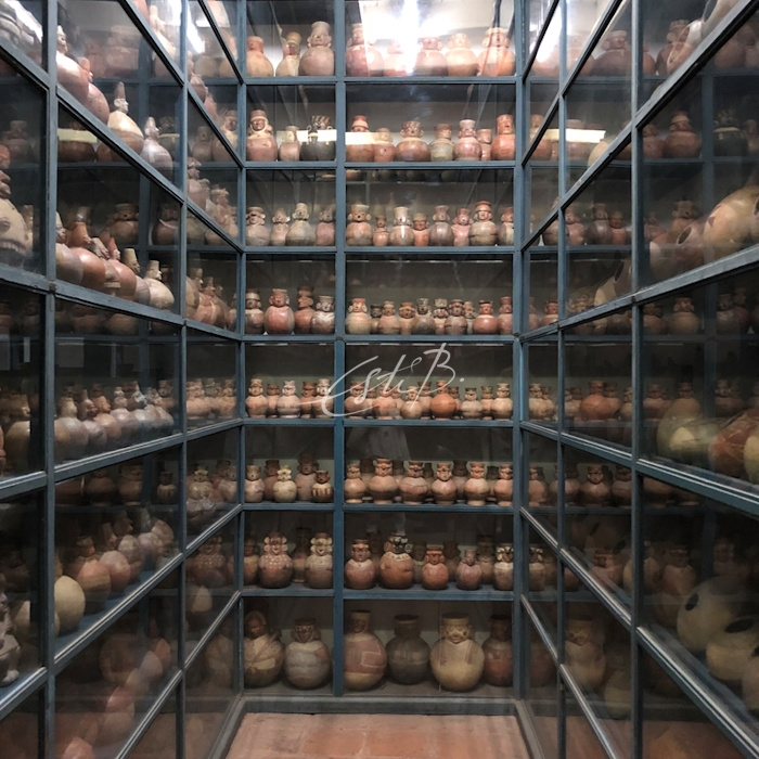One of the archive galleries in Museo Larco